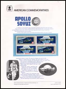 view larger image for Commemorative Panels Commemorative Panels: SG Number 1567-1568 / Scott Number Panel Number 53 (1975) - Apollo - Soyuz Space