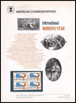 view larger image for Commemorative Panels Commemorative Panels: SG Number 1569 / Scott Number Panel Number 55 (1975) - International Women's Year