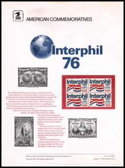 view larger image for Commemorative Panels Commemorative Panels: SG Number 1612 / Scott Number Panel Number 61 (1976) - Interphil '76
