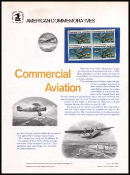 view larger image for Commemorative Panels Commemorative Panels: SG Number 1664 / Scott Number Panel Number 64 (1976) - Commercial Aviation