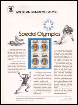 view larger image for  : SG Number 1763 / Scott Number 1788 (1979) - Special Olympics