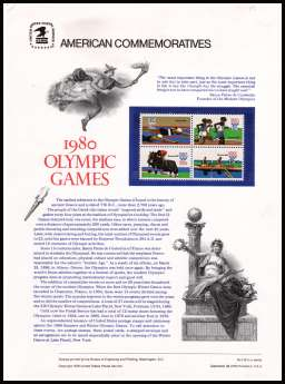 view larger image for  : SG Number 1765-1768 / Scott Number 1791-1794 (1979) - Olympic Games
