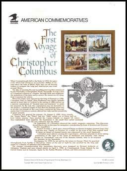 view larger image for  : SG Number 2655-2658 / Scott Number 2620-2623 (1992) - Christopher Columbus