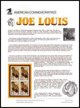 view larger image for  : SG Number 2837 / Scott Number 2766 (1993) - Joe Louis - Boxer