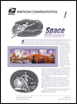 view larger image for  : SG Number 3512-3516 / Scott Number 3238-3242 (1998) - Space Discovery
