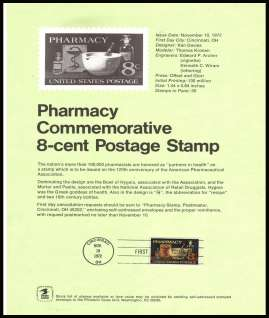 view larger image for Pages Pages: SG Number 1478 / Scott Number 10 November 1972 (1972) - Pharmacy