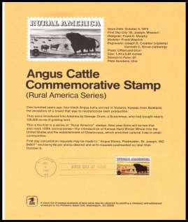 view larger image for Pages Pages: SG Number 1510 / Scott Number 5 October 1973 (1973) - Angus Cattle