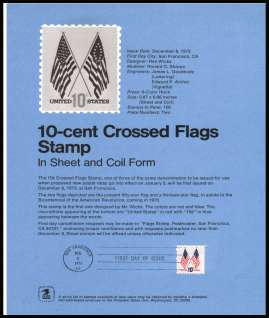 view larger image for Pages Pages: SG Number 1515 / Scott Number 8 December 1973 (1973) - 10c Crossed Flags definitive