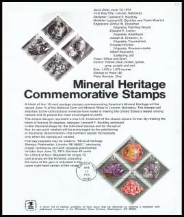 view larger image for Pages Pages: SG Number 1536-1539 / Scott Number 13 June 1974 (1974) - Minerals