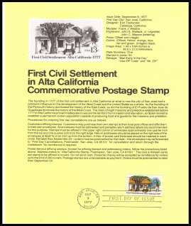 view larger image for Pages Pages: SG Number 1699 / Scott Number 9 September 1977 (1977) - California Settlement