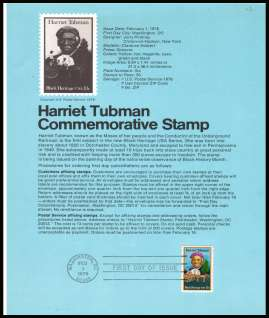 view larger image for Pages Pages: SG Number 1711 / Scott Number 1 February 1978 (1978) - Harriet Tubman