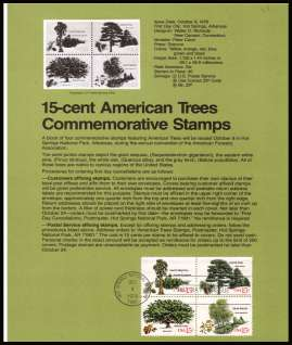 view larger image for  : SG Number 1737-1740 / Scott Number 1764-1767 (1978) - Trees