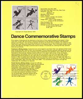 view larger image for Pages Pages: SG Number 1716-1719 / Scott Number 26 April 1978 (1978) - Dance