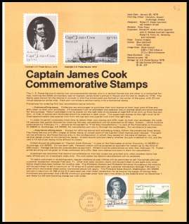 view larger image for  : SG Number 1709-1710 / Scott Number 1732-1733 (1978) - Captain James Cook - Honolulu cancel