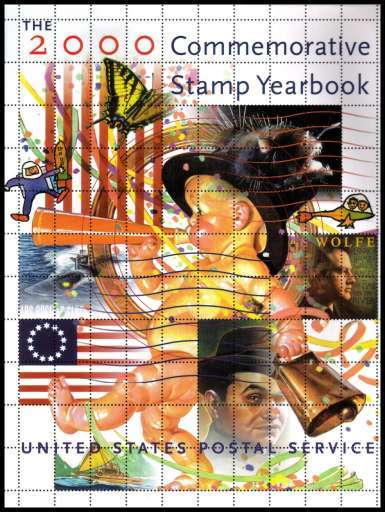 view larger image for Year Books Year Books: SG Number  / Scott Number United States Postal Service Year Book (2000) - Year Book complete with the stamps mounted in their places.
