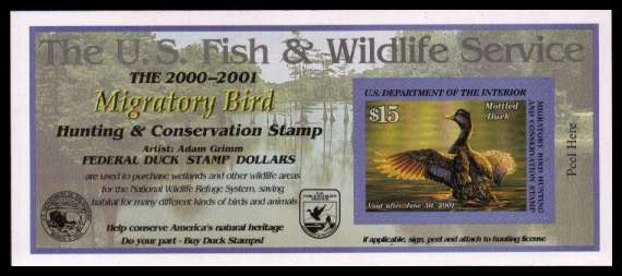 view larger image for Federal Ducks Federal Ducks: SG Number  / Scott Number $15 (2000) - Migratory Bird Hunting and Conservation Stamp<br/>