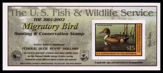 view larger image for Federal Ducks Federal Ducks: SG Number  / Scott Number $15 (2001) - Migratory Bird Hunting and Conservation Stamp<br/>