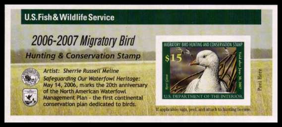 view larger image for Federal Ducks Federal Ducks: SG Number  / Scott Number $15 (2006) - Migratory Bird Hunting and Conservation Stamp<br/>