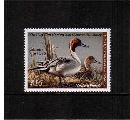 view larger image for Federal Ducks Federal Ducks: SG Number  / Scott Number $15 (2008) - Migratory Bird Hunting and Conservation Stamp<br/>