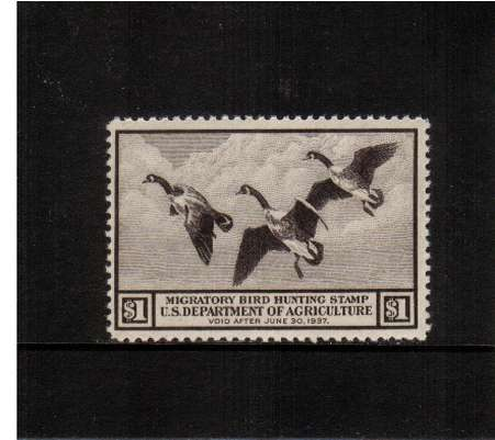 view larger image for Federal Ducks Federal Ducks: SG Number  / Scott Number $1 (1936) - Migratory Bird Hunting and Conservation Stamp<br/>