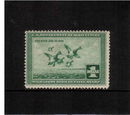 view larger image for Federal Ducks Federal Ducks: SG Number  / Scott Number $1 (1937) - Migratory Bird Hunting and Conservation Stamp<br/>