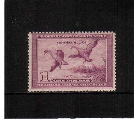 view larger image for Federal Ducks Federal Ducks: SG Number  / Scott Number $1 (1938) - Migratory Bird Hunting and Conservation Stamp<br/>