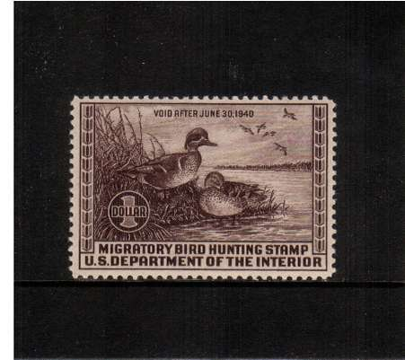 view larger image for Federal Ducks Federal Ducks: SG Number  / Scott Number $1 (1939) - Migratory Bird Hunting and Conservation Stamp<br/>