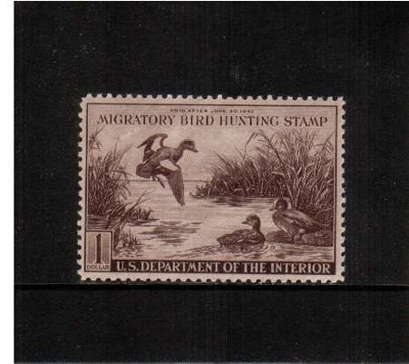 view larger image for Federal Ducks Federal Ducks: SG Number  / Scott Number $1 (1942) - Migratory Bird Hunting and Conservation Stamp<br/>