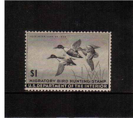 view larger image for Federal Ducks Federal Ducks: SG Number  / Scott Number $1 (1945) - Migratory Bird Hunting and Conservation Stamp<br/>