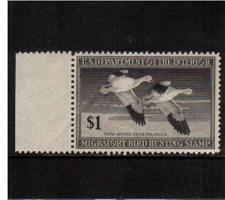 view larger image for Federal Ducks Federal Ducks: SG Number  / Scott Number $1 (1947) - Migratory Bird Hunting and Conservation Stamp<br/>