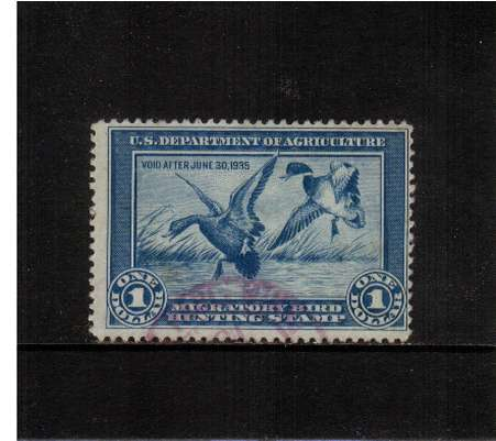 view larger image for Federal Ducks Federal Ducks: SG Number  / Scott Number $1 (1934) - Migratory Bird Hunting and Conservation Stamp