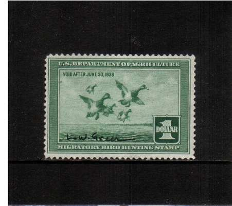 view larger image for Federal Ducks Federal Ducks: SG Number  / Scott Number $1 (1937) - Migratory Bird Hunting and Conservation Stamp