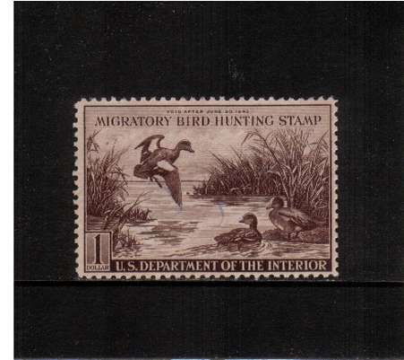 view larger image for Federal Ducks Federal Ducks: SG Number  / Scott Number $1 (1942) - Migratory Bird Hunting and Conservation Stamp