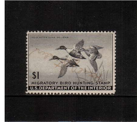 view larger image for Federal Ducks Federal Ducks: SG Number  / Scott Number $1 (1945) - Migratory Bird Hunting and Conservation Stamp