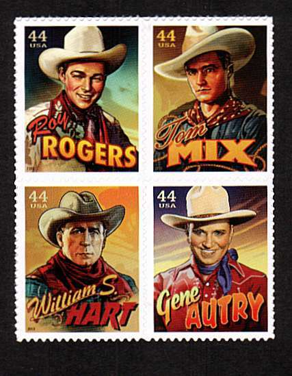 view larger image for  : SG Number 5033a / Scott Number 4449a (2010) - Cowboys of the Silver Screen<br/>