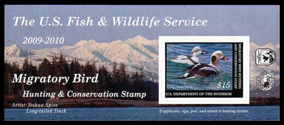 view larger image for Federal Ducks Federal Ducks: SG Number  / Scott Number $15 (2009) - Migratory Bird Hunting and Conservation Stamp<br/>