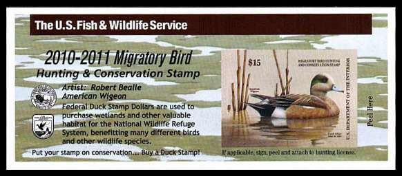 view larger image for Federal Ducks Federal Ducks: SG Number  / Scott Number $15 (2010) - Migratory Bird Hunting and Conservation Stamp<br/>
