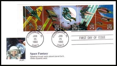view larger image for  : SG Number 2774a / Scott Number 2745a (1993) - Space Fantasy