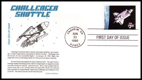 space shuttle challenger first day cover - photo #45