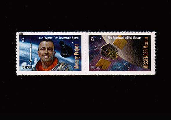view larger image for  : SG Number 5123a / Scott Number 4527-4528 (2011) - Space Firsts - Se-tenent pair