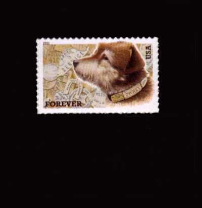 view larger image for  : SG Number 5143 / Scott Number 4547 (2011) - Owney the Postal Dog