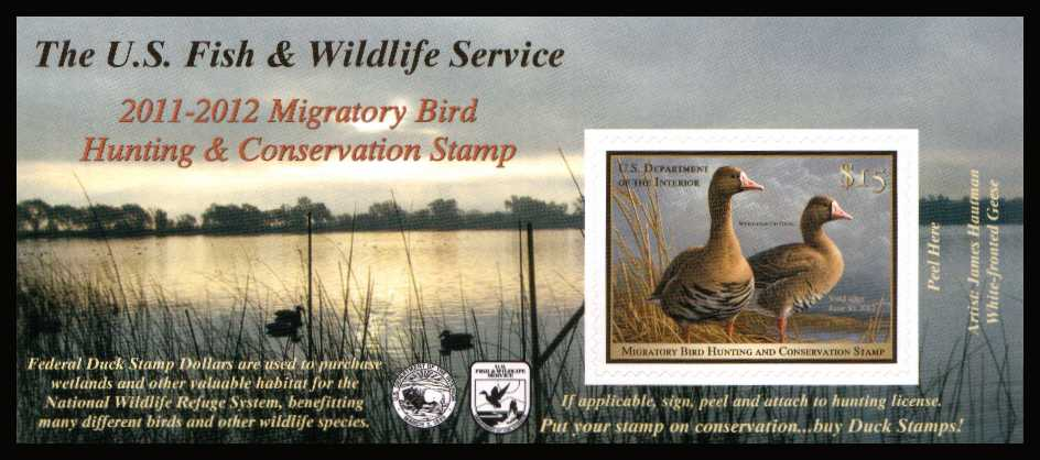 view larger image for Federal Ducks Federal Ducks: SG Number  / Scott Number $15 (2011) - Migratory Bird Hunting and Conservation Stamp<br/>
