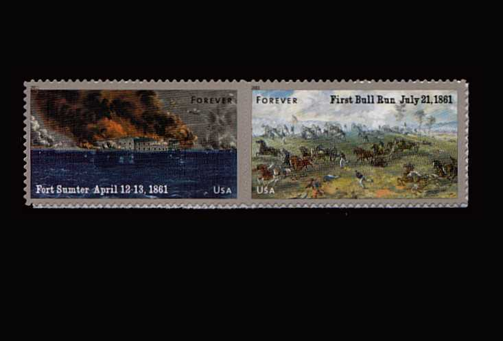 view larger image for  : SG Number MS5117v / Scott Number 4523a (2011) - Civil War Sesquicentennial - 1st Series<br/>