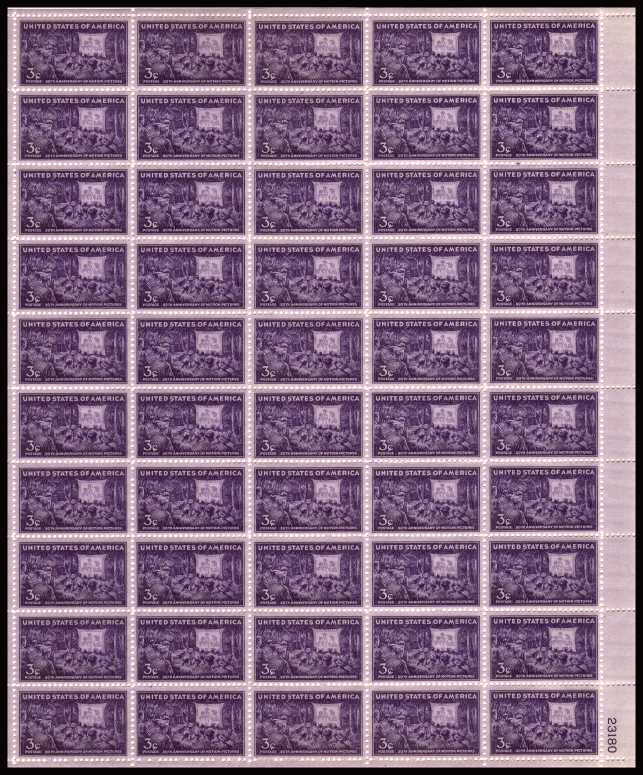 view larger image for  : SG Number 923sh / Scott Number 926sh (1944) - Motion Pictures<br/>