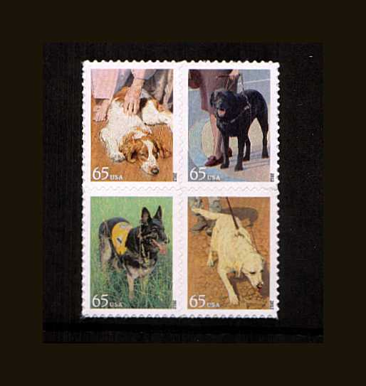 view larger image for  : SG Number 5212a / Scott Number 4607a (2012) - Dogs at Work block of four
