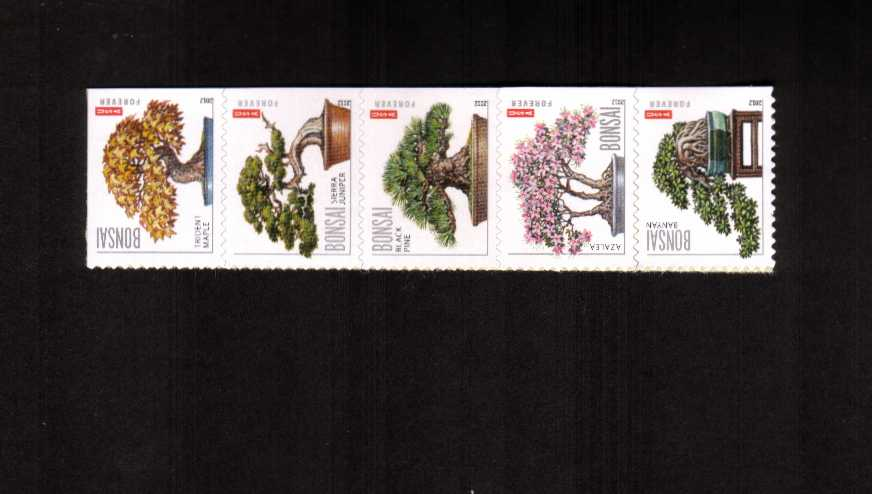 view larger image for  : SG Number 5222-5226 / Scott Number 4622a (2012) - Bonsai<br/>