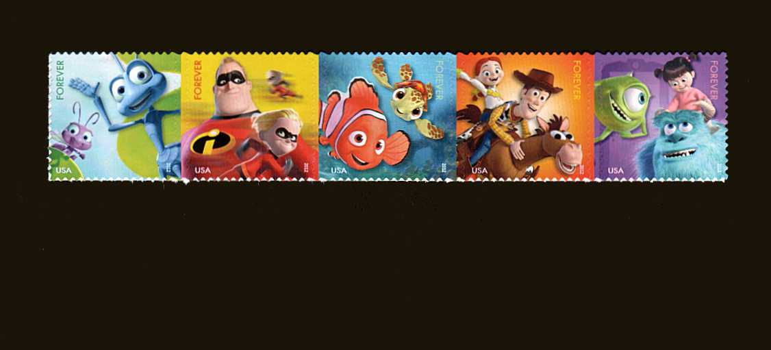 view larger image for  : SG Number 5280a / Scott Number 4681a (2012) - Characters from Disney-Pixar Films<br/>