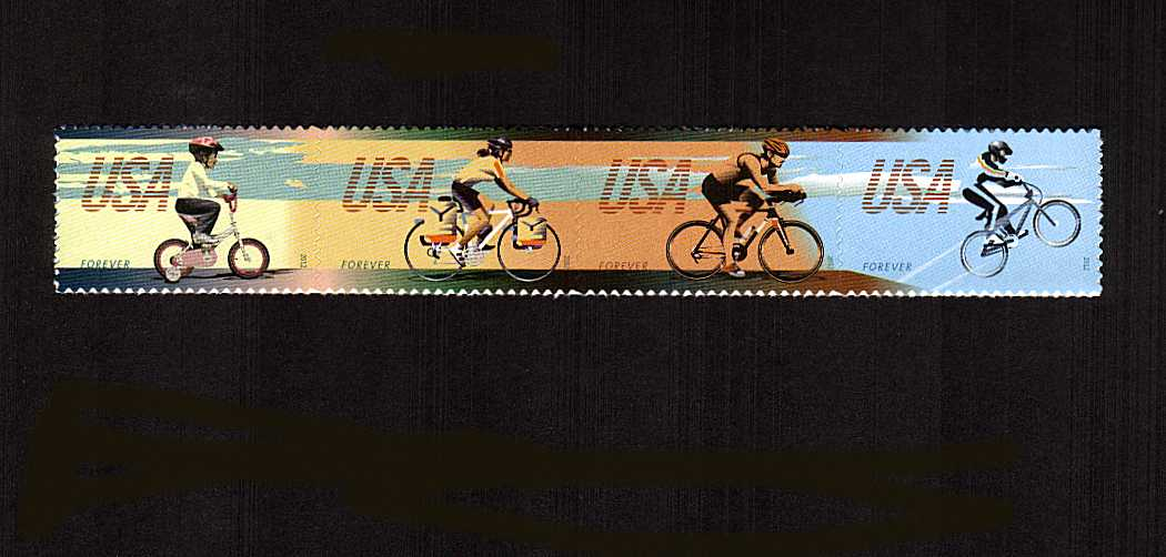 view larger image for  : SG Number 5290a / Scott Number 4690a (2012) - Bicycling<br/>