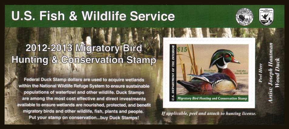 view larger image for Federal Ducks Federal Ducks: SG Number  / Scott Number $15 (2012) - Migratory Bird Hunting and Conservation Stamp<br/>