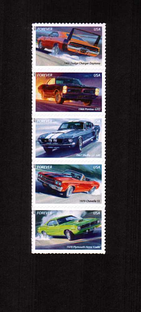 view larger image for  : SG Number 5370a / Scott Number 4747a (2013) - Muscle Cars<br/>